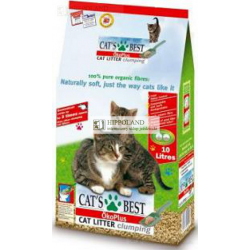 PODKŁAD DLA KOTA DREWNIANY CAT'S BEST ECO PLUS CZERWONY ZBRYLAJĄCY - opakowanie 10l