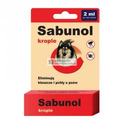 SABUNOL KROPLE PRZECIWPCHELNE 2ml dla psa o wadze 10-20kg