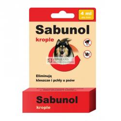 SABUNOL KROPLE PRZECIWPCHELNE 4ml dla psa o wadze 20-40kg
