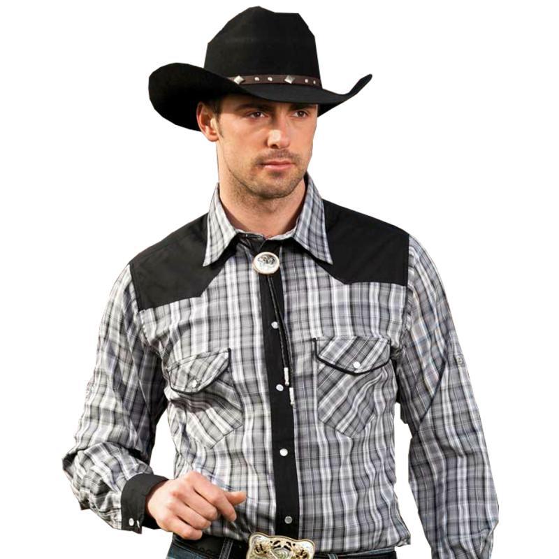 Koszula kowbojska męska w stylu western model Brian  UdZWz