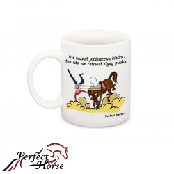 KUBEK PORCELANOWY PERFECT HORSE CARTOON