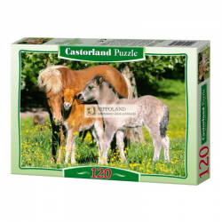 B-12909 PONIES IN THE MEADOW PUZZLE 120 ELEMENTÓW