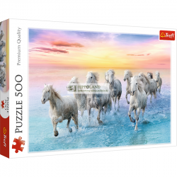 Białe konie w galopie Nr kat. 37289 - PUZZLE 500 ELEMENTÓW